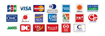各種クレジットカード使用できます。